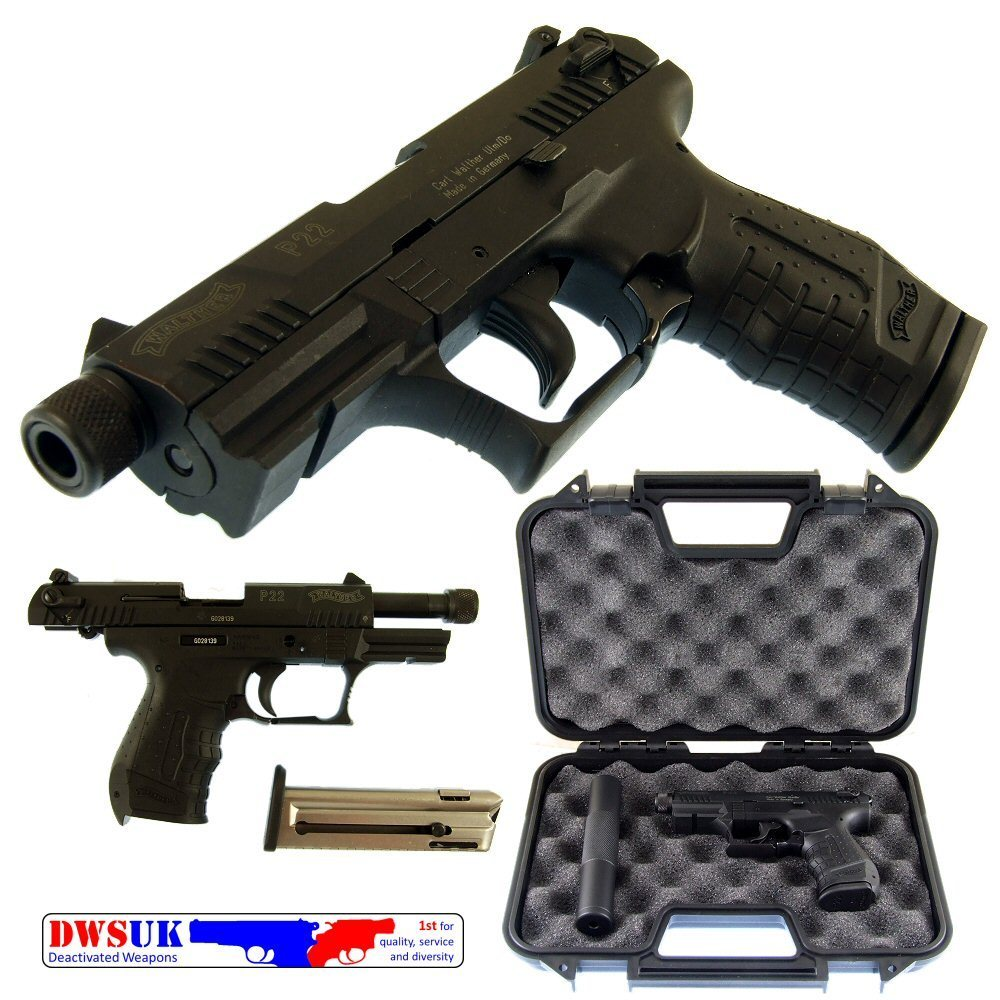 suppressed walther p22 auto boxed dwsuk. Black Bedroom Furniture Sets. Home Design Ideas