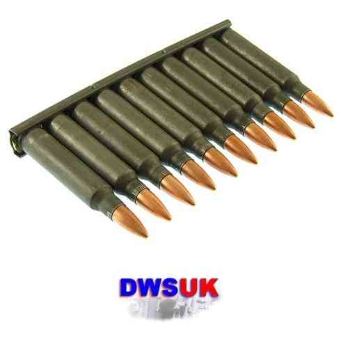 10 x INERT 5.56mm/.223 FMJ Steel Round