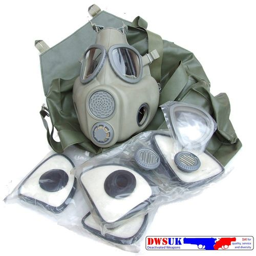 Czech M-10 Bulldog Gas Mask & Accessories