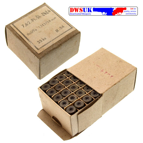 25 x INERT 7.62 Tokarev Drill Rounds Boxed