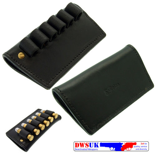 Black Leather Looped Bullet Holder