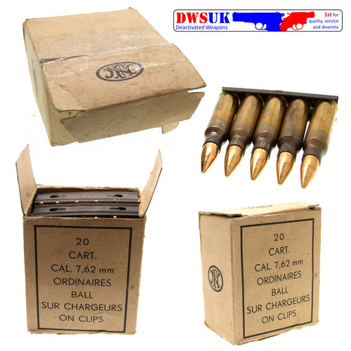 FN Boxed 7.62 NATO x 20 on Charger Clips